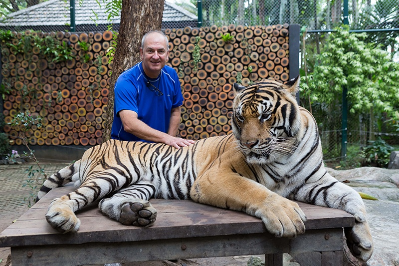 Me with giant tiger