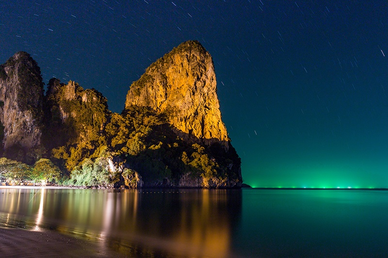 Railay Beach Thailand at night