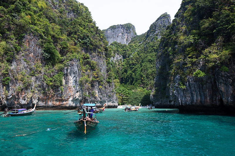 Turquoise waters of Ko Phi Phi islands